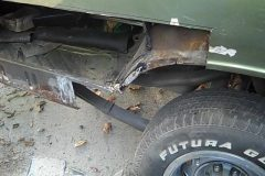 So the car now started turning into a full restore when the quater panel turned out to be rust and 1 inch thick of Bondo