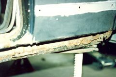 Driver's side rocker panel was all rusted out