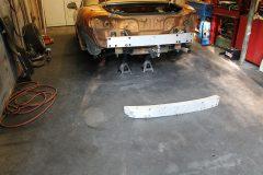 Replaced rear bumper reinforcement bar