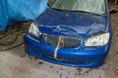 Hood, bumper, headlamps, grill and drivers fender had to be replaced.