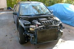 Tearing the frontend down getting ready to cut out ad replace the radiator support.