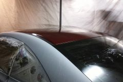 Due to the sunroof, it made it easier to paint the top section first.