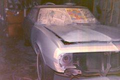 1967 Camaro preparing to stripe the front nose