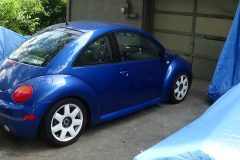 1999 Beatle repaired and painted
