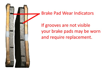 how to know measure motorcycle brake pad thickness
