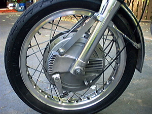 motorcycle front drum brakes