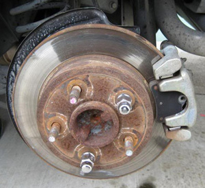 what does a normal disc brakes look like