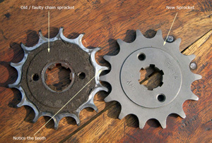 how to tell a worn out motorcycle chain sprocket