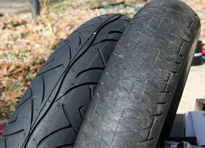 how to tell if a motorcycle tire is worn out