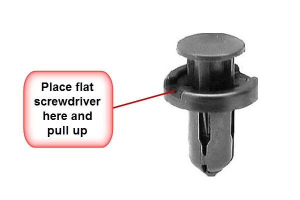 how to release retainer clips on nissan bumper