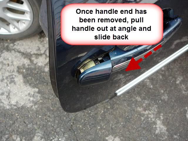 remove exterior door handle vw beetle