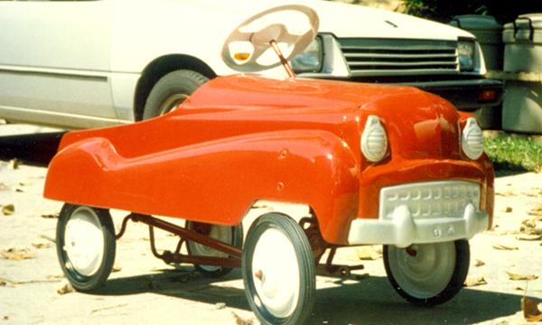 restoring a pedal car