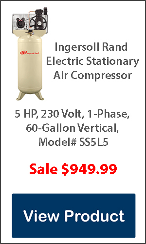Ingersoll Rand Air Compressor 5hp 60 gallon