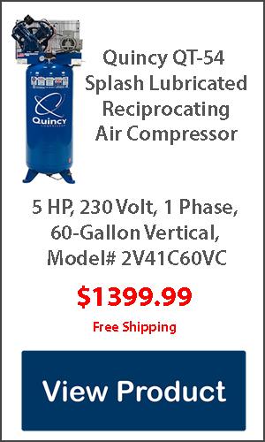 Quincy 5hp 60 gallon air compressor for sale
