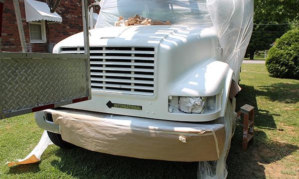 repair a fiberglass hood