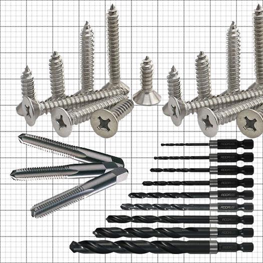 screw to drill bit chart
