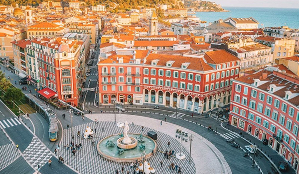 renting a car in while on a trip in Nice